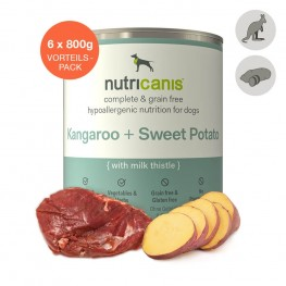 Adult wet dog food: 6 x 800g Kangaroo + Sweet Potato