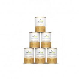 Adult wet dog food: 6 x 400g Horse + Cassava with milk thistle