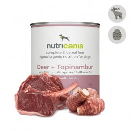 Adult wet dog food: 800g Deer + Topinambur with milk thistle