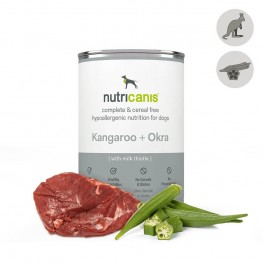 Hypoallergenic wet dog food: 400g Kangaroo & Okra