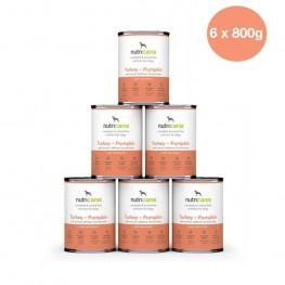 Adult wet dog food: 6 x 800g Turkey + Pumpkin with milk thistle